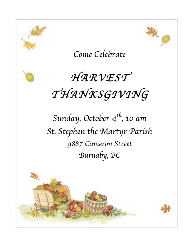 harvest thanksgiving poster 2015