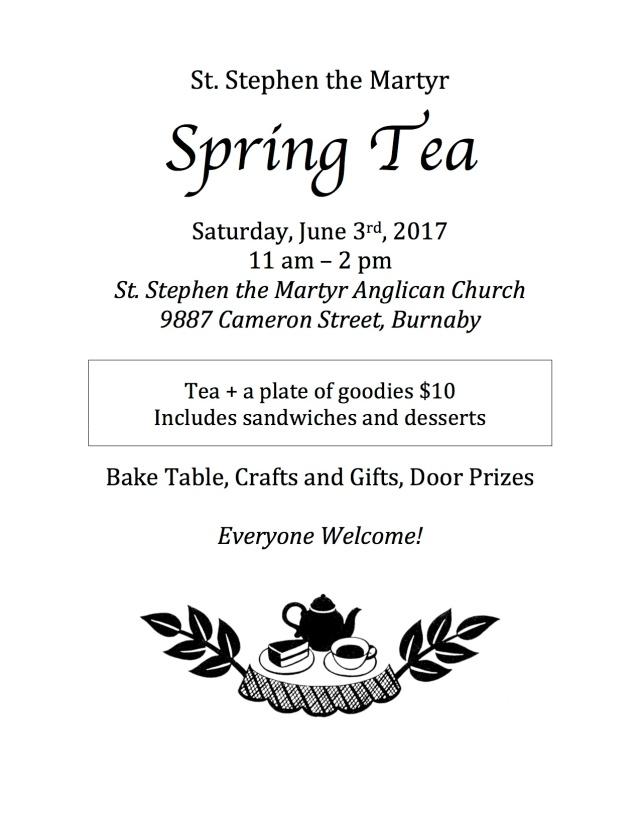 spring tea poster 2017
